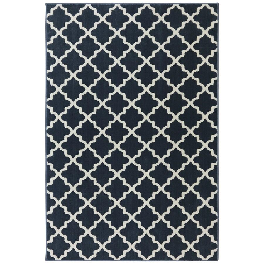 Mohawk Home Elysian Trellis Dark Slate Rectangular Indoor Woven Area Rug (Common: 5 x 8; Actual: 63-in W x 94-in L x 0.5-ft dia)