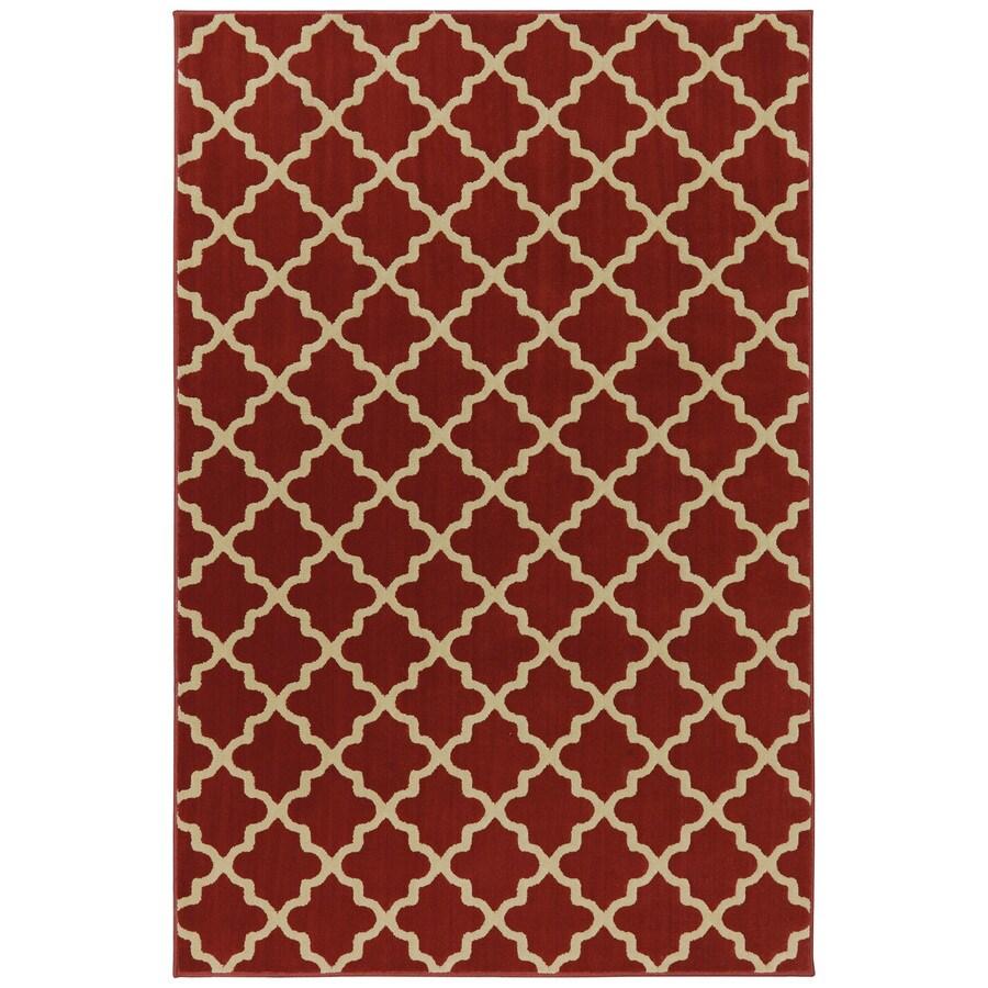 Mohawk Home Elysian Trellis Russett Brown Rectangular Indoor Woven Area Rug (Common: 8 x 10; Actual: 96-in W x 120-in L x 0.5-ft Dia)