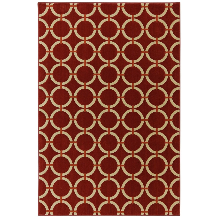 Mohawk Home Ringlet Russett Brown Rectangular Indoor Woven Area Rug (Common: 8 x 10; Actual: 96-in W x 120-in L x 0.5-ft Dia)