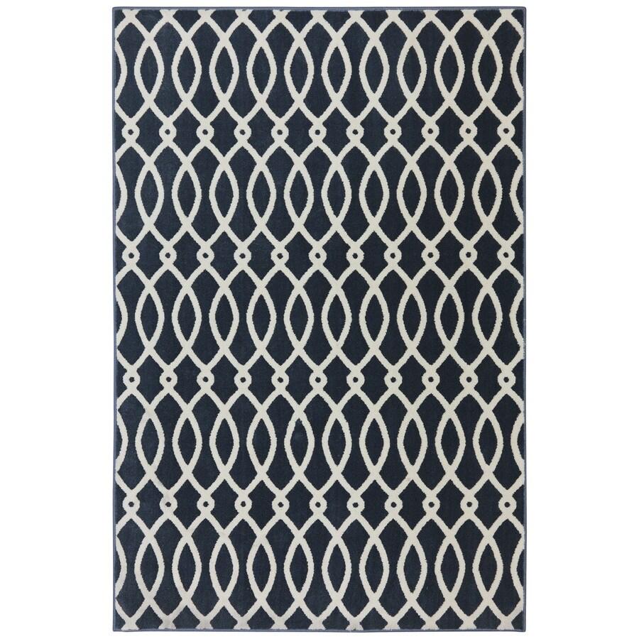 Mohawk Home Chain Link Dark Slate Rectangular Indoor Woven Area Rug (Common: 10 x 13; Actual: 114-in W x 155-in L x 0.5-ft Dia)