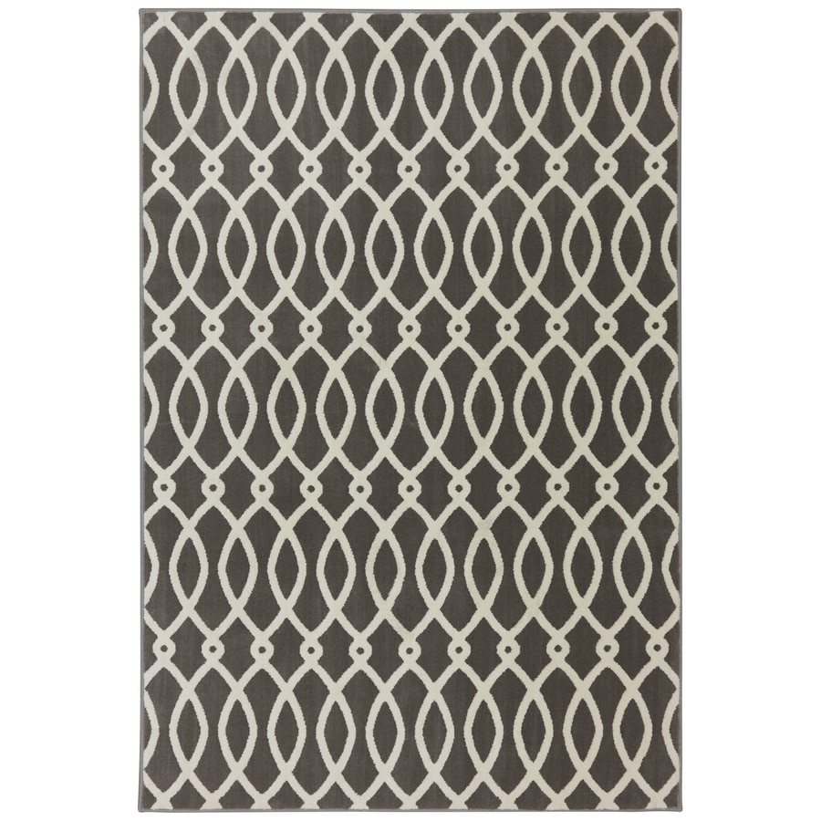 Mohawk Home Chain Link Brindle Rectangular Indoor Woven Area Rug (Common: 8 x 10; Actual: 96-in W x 120-in L x 0.5-ft Dia)