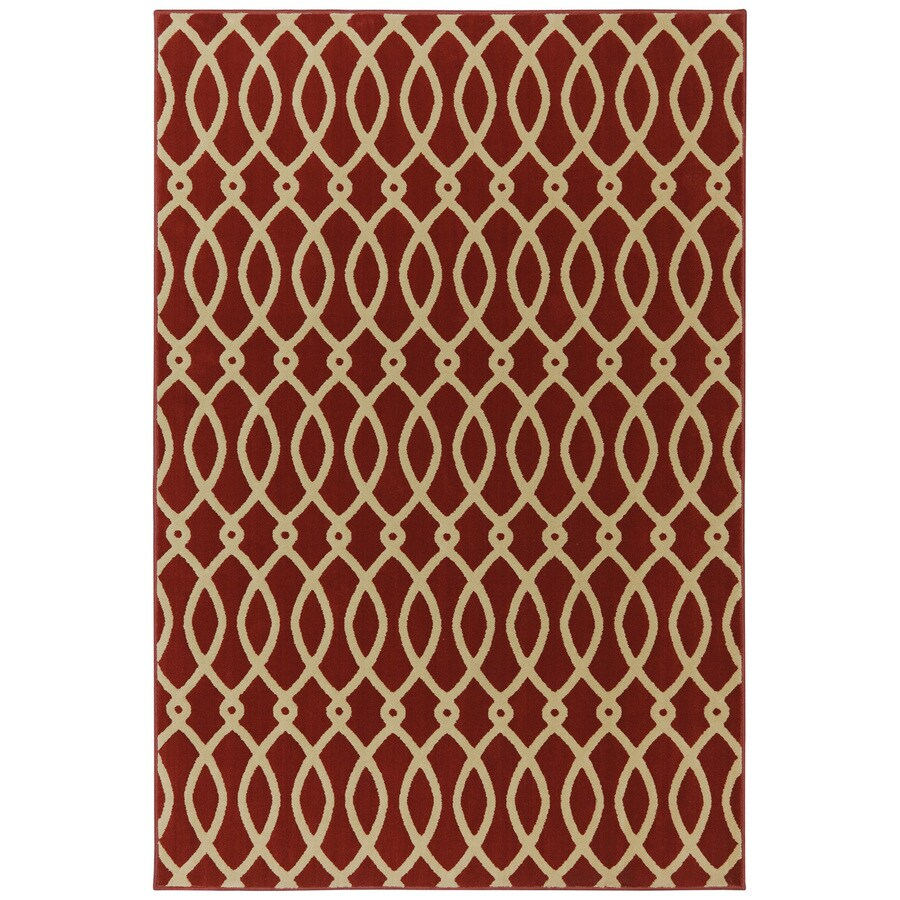 Mohawk Home Chain Link Russett Brown Rectangular Indoor Woven Area Rug (Common: 8 x 10; Actual: 96-in W x 120-in L x 0.5-ft Dia)