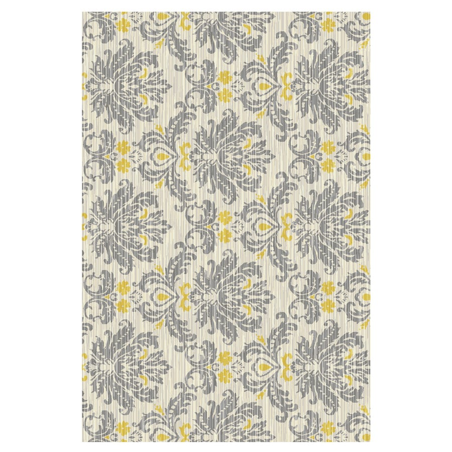 Mohawk Home Bethany Yellow Rectangular Indoor Tufted Throw Rug (Common: 2 x 4; Actual: 30-in W x 46-in L x 0.5-ft Dia)