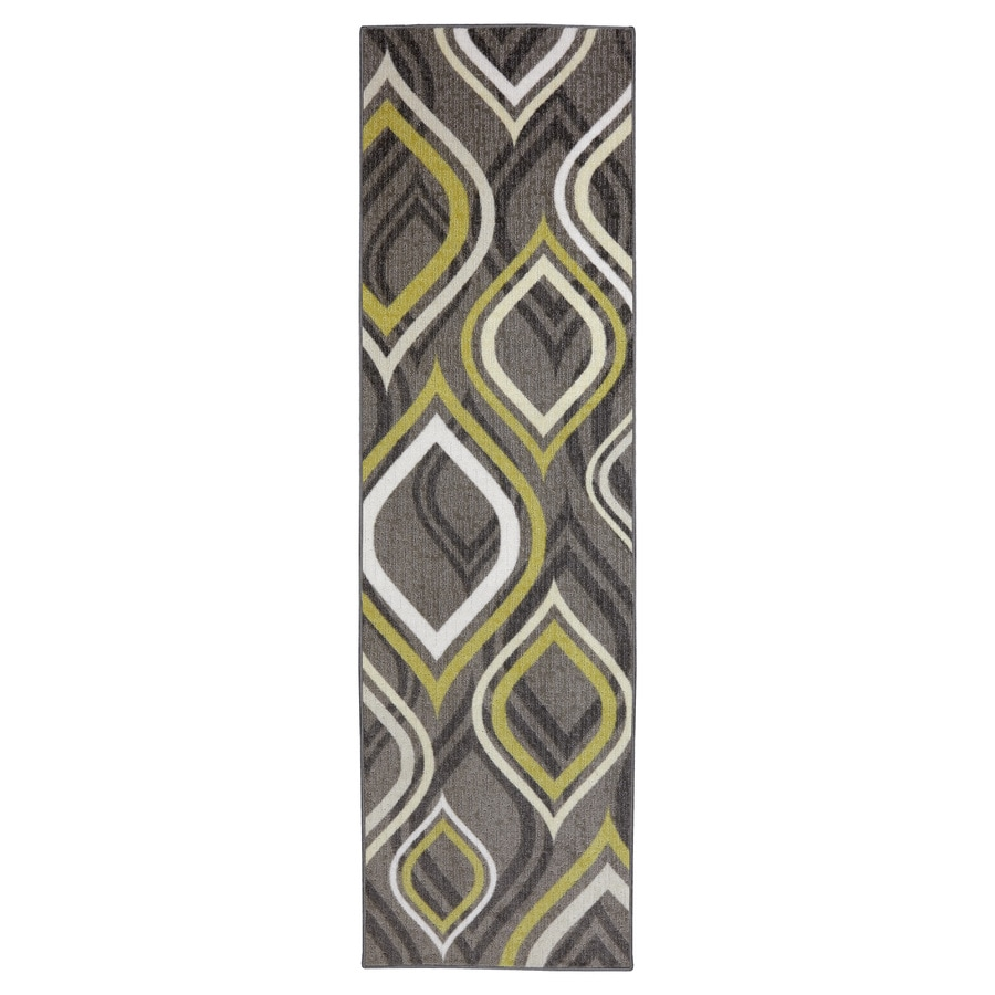 Mohawk Home Pedrin Gray/Silver Rectangular Indoor Tufted Runner (Common: 2 x 8; Actual: 24-in W x 96-in L x 0.5-ft Dia)
