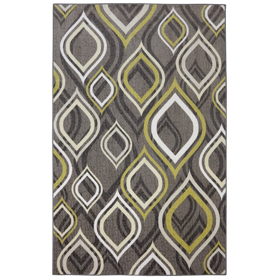 Mohawk Home Pedrin Gray/Silver Rectangular Indoor Tufted Area Rug (Common: 5 x 8; Actual: 60-in W x 96-in L x 0.5-ft Dia)