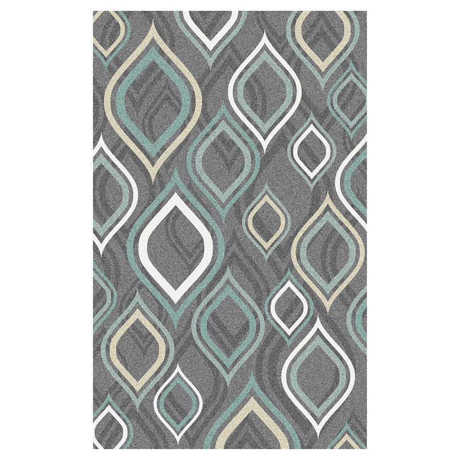 Shop Mohawk Home Pedrin Gray Rectangular Indoor Tufted Area Rug (Common: 8 x 10; Actual: 96-in W ...