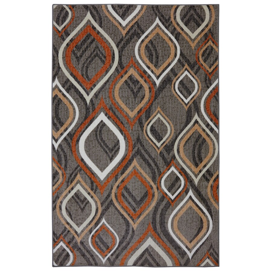 Mohawk Home Pedrin Gray/Silver Rectangular Indoor Tufted Area Rug (Common: 8 x 10; Actual: 96-in W x 120-in L x 0.5-ft Dia)