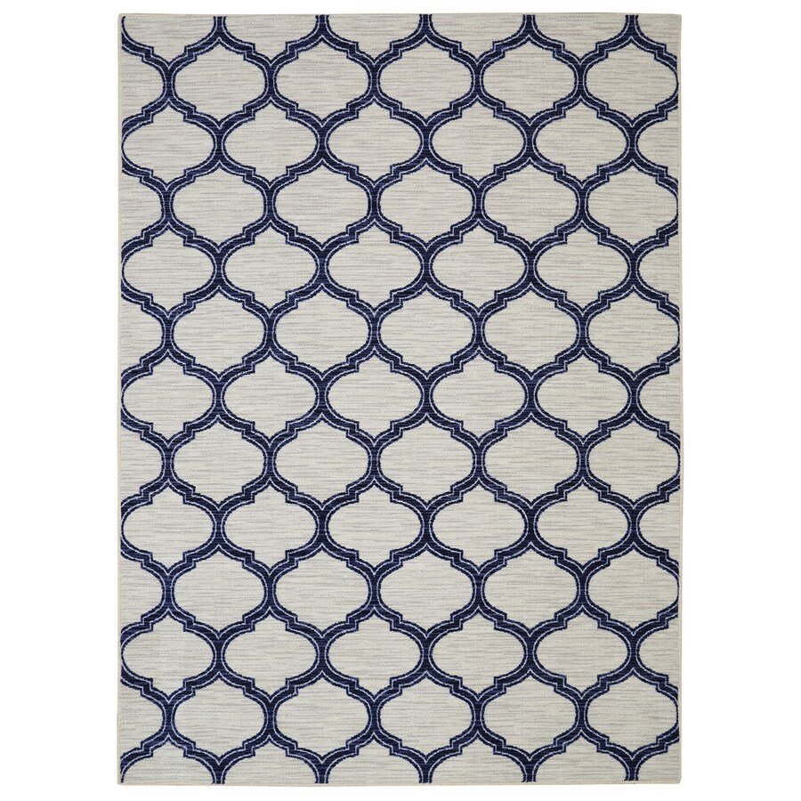 Mohawk Home Glenn Navy Blue Rectangular Indoor Tufted Area Rug (Common: 8 x 10; Actual: 96-in W x 120-in L x 0.5-ft Dia)