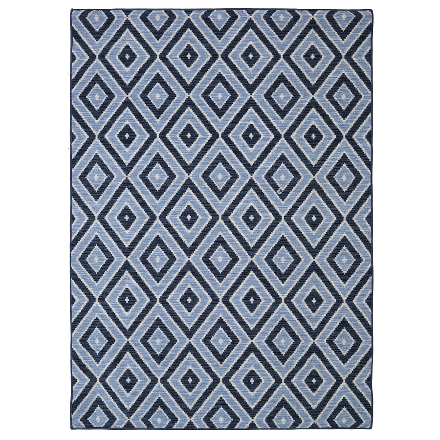 Mohawk Home Shima Blue Blue Rectangular Indoor Tufted Area Rug (Common: 5 x 8; Actual: 60-in W x 96-in L x 0.5-ft Dia)