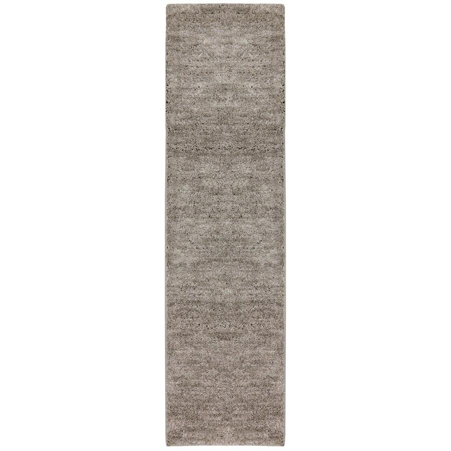 Mohawk Home Gray Black Rectangular Indoor Tufted Runner (Common: 2 x 8; Actual: 24-in W x 96-in L x 0.5-ft Dia)