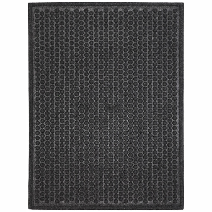 Mohawk Home Black Rectangular Door Mat (Common: 24-in x 36-in; Actual: 24-in x 36-in)