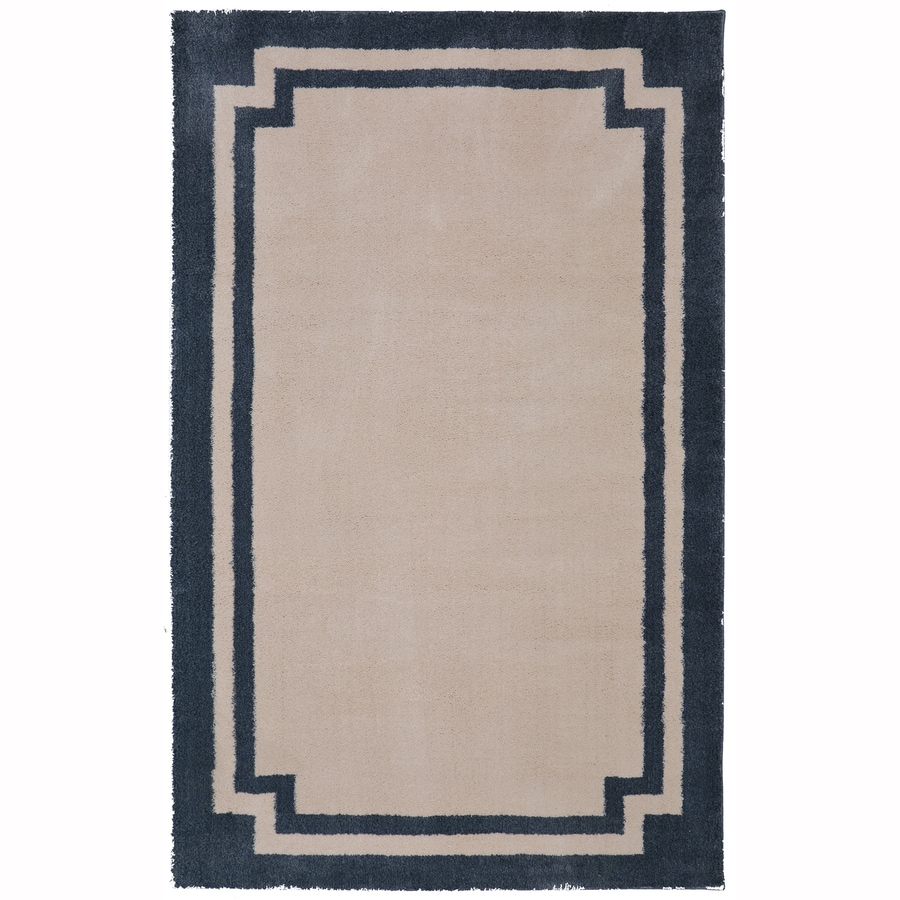 Mohawk Home Driscombe Green Mileu Rectangular Indoor Woven Area Rug (Common: 5 x 8; Actual: 60-in W x 96-in L x 0.5-ft dia)