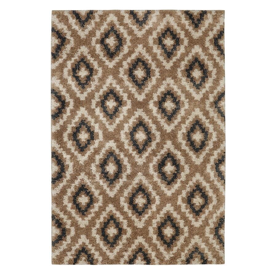 Mohawk Home Tempe Diamond Sand Cream Rectangular Indoor Woven Area Rug (Common: 8 x 10; Actual: 96-in W x 120-in L)
