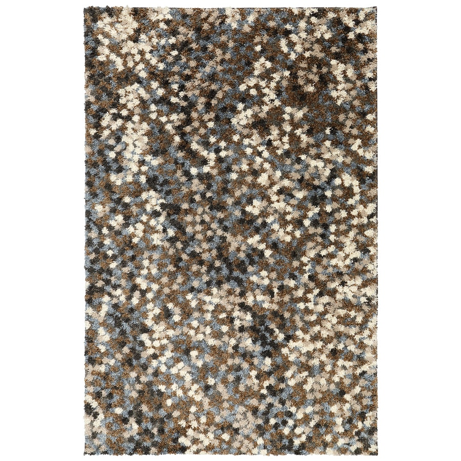 Mohawk Home Chaos Theory Dark Earth Dark Earth Rectangular Indoor Woven Area Rug (Common: 8 x 10; Actual: 96-in W x 120-in L)