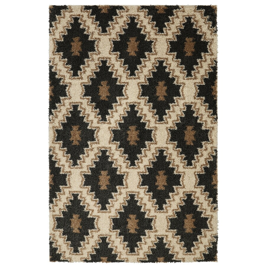 Mohawk Home Carson Diamond Charcoal Charcoal Rectangular Indoor Woven Area Rug (Common: 5 x 8; Actual: 60-in W x 96-in L)