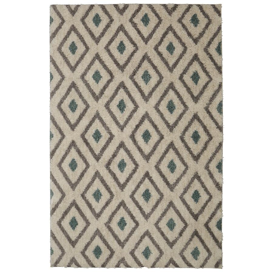 Mohawk Home Tribal Diamond Green Beige Rectangular Indoor Woven Area Rug (Common: 8 x 10; Actual: 96-in W x 120-in L)