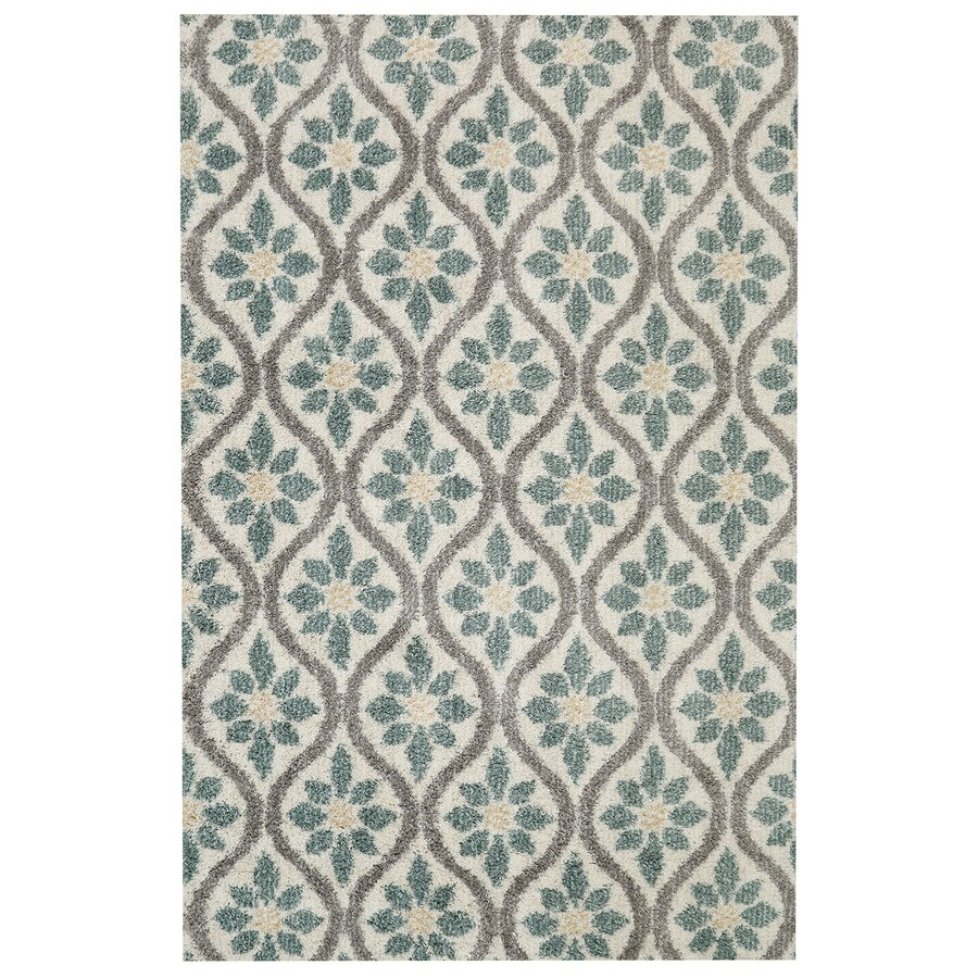 Mohawk Home Perry Green Beige Rectangular Indoor Woven Area Rug (Common: 5 x 8; Actual: 60-in W x 96-in L)