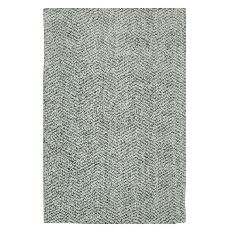 Mohawk Home Clinton Aqua Beige Rectangular Indoor Woven Area Rug (Common: 8 x 10; Actual: 96-in W x 120-in L)