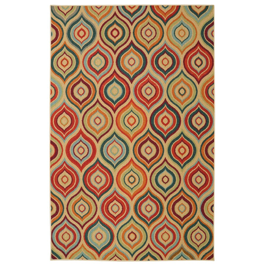 Mohawk Home Larache Multi Green Rectangular Indoor Tufted Area Rug (Common: 5 x 8; Actual: 60-in W x 96-in L)
