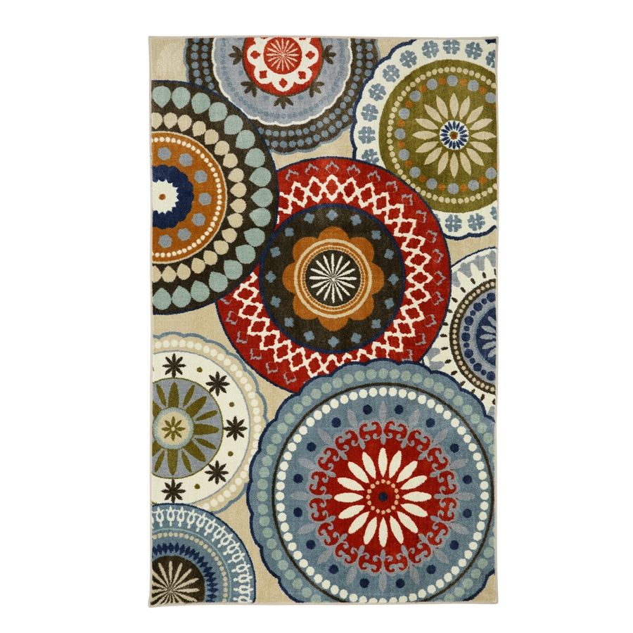 Mohawk Home Suzani Blue Vintage Blue Rectangular Indoor Tufted Area Rug (Common: 5 x 8; Actual: 60-in W x 96-in L)