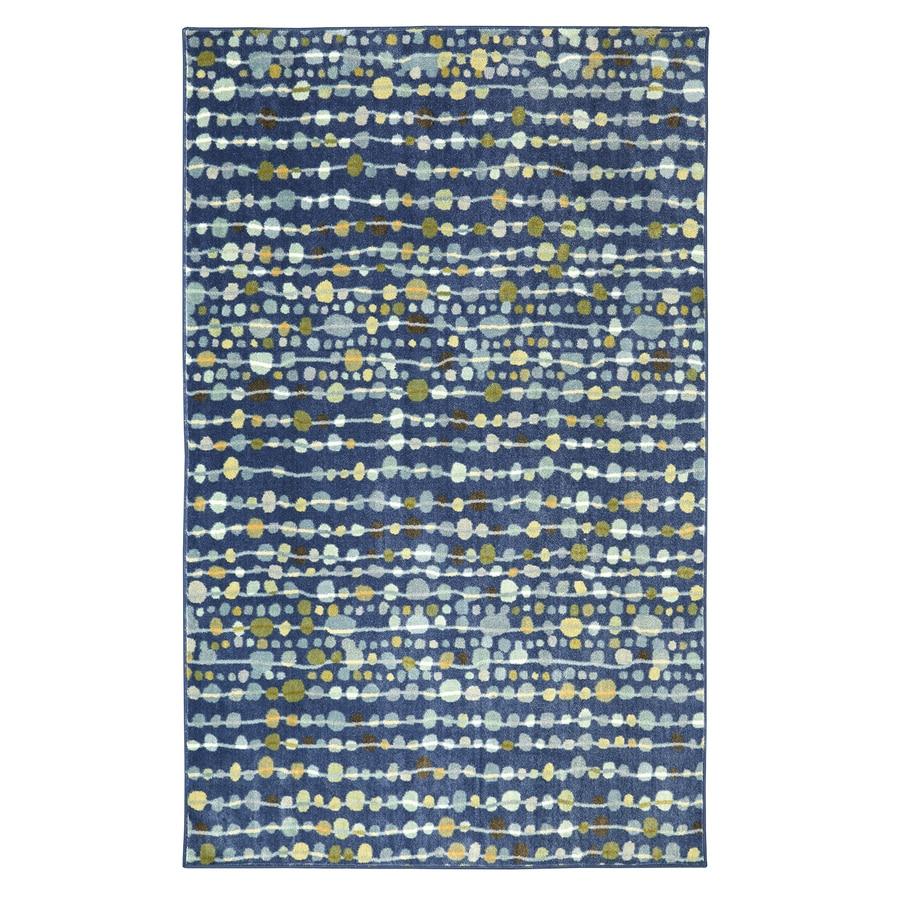 Mohawk Home Delerus Falls Navy Blue Rectangular Indoor Tufted Area Rug (Common: 5 x 8; Actual: 60-in W x 96-in L)