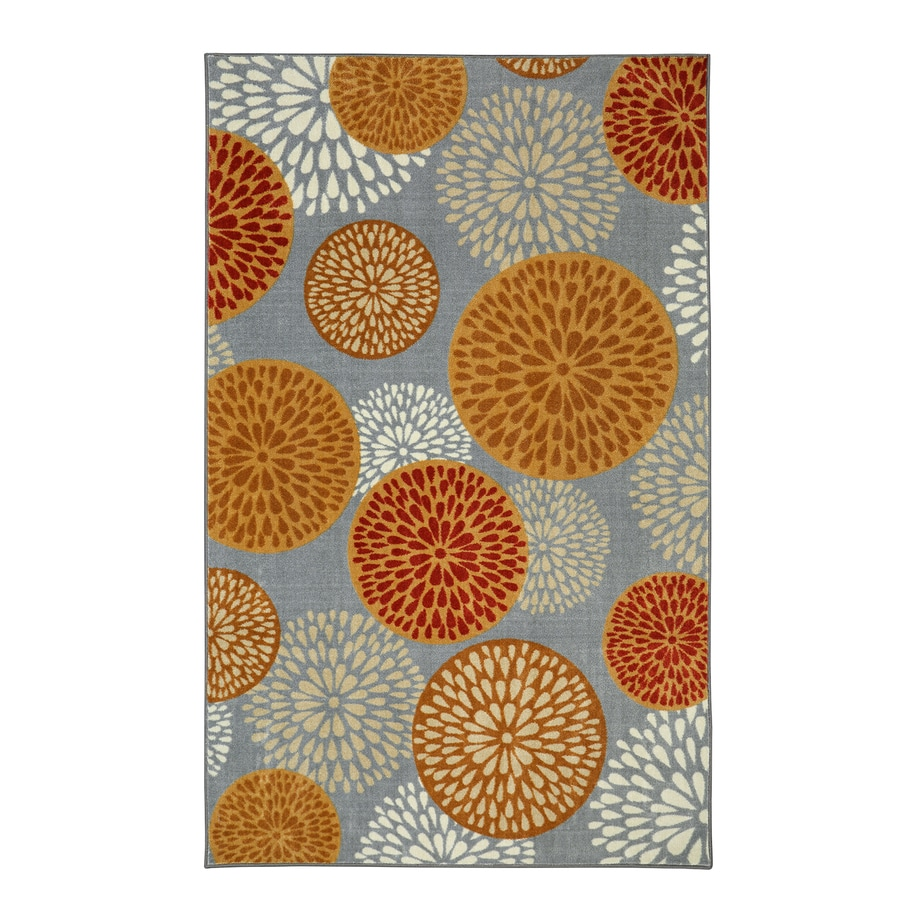 Mohawk Home Foliage Friends Warm Brown Rectangular Indoor Tufted Area Rug (Common: 5 x 8; Actual: 60-in W x 96-in L)