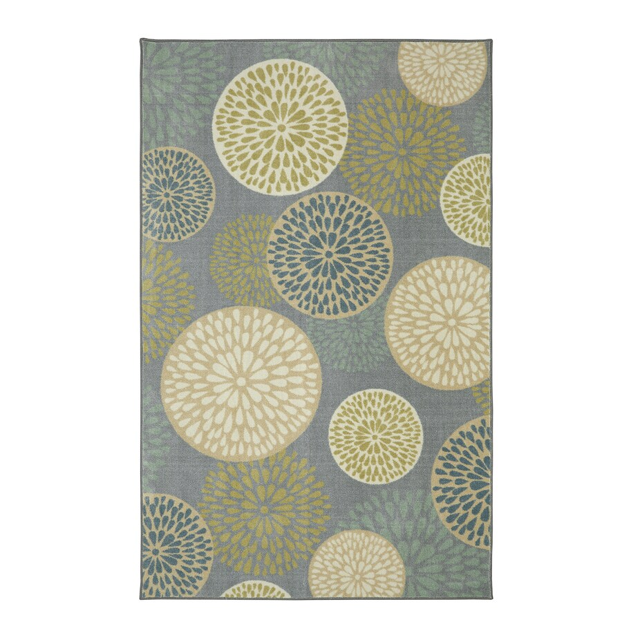 Mohawk Home Foliage Friends Garden Brown Rectangular Indoor Tufted Area Rug (Common: 5 x 8; Actual: 60-in W x 96-in L)