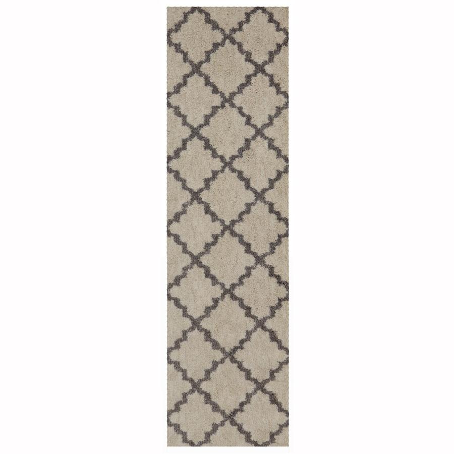 Mohawk Home Briarwick Gray Rectangular Indoor Woven Runner (Common: 2 x 8; Actual: 25-in W x 94-in L x 0.5-ft Dia)