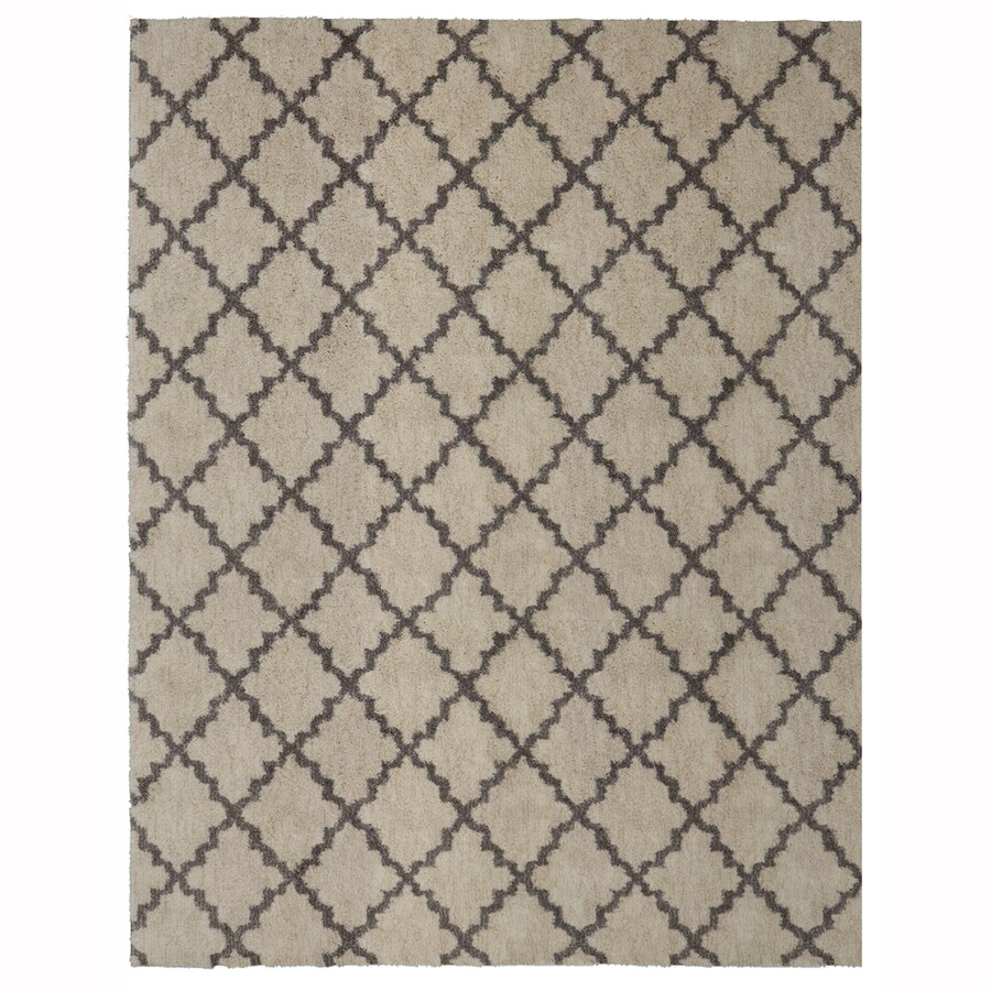 allen + roth Briarwick Gray Rectangular Indoor Woven Area Rug (Common: 10 x 13; Actual: 120-in W x 155-in L x 0.5-ft Dia)