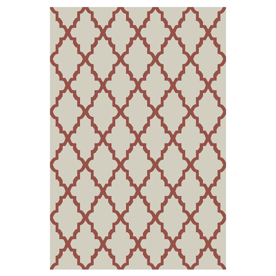 allen + roth Briarwick Coral Rectangular Indoor Woven Area Rug (Common: 8 x 10; Actual: 96-in W x 120-in L x 0.5-ft Dia)