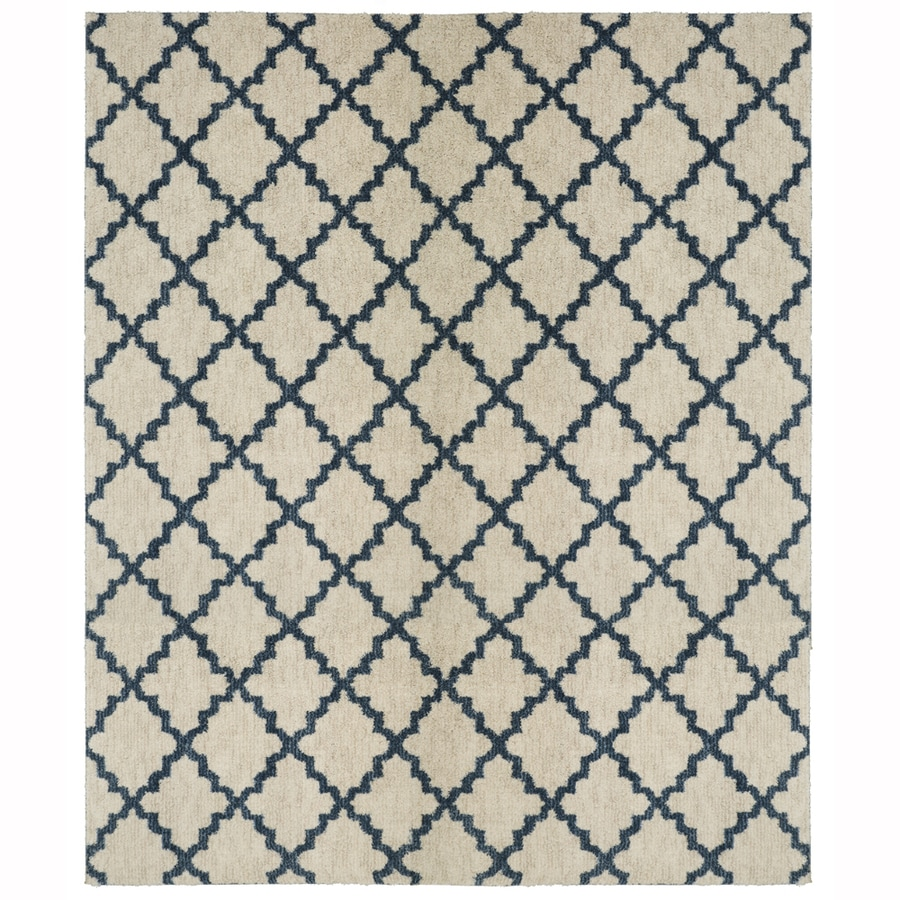 allen + roth Dark Slate Rectangular Indoor Woven Area Rug (Common: 10 x 13; Actual: 120-in W x 155-in L)