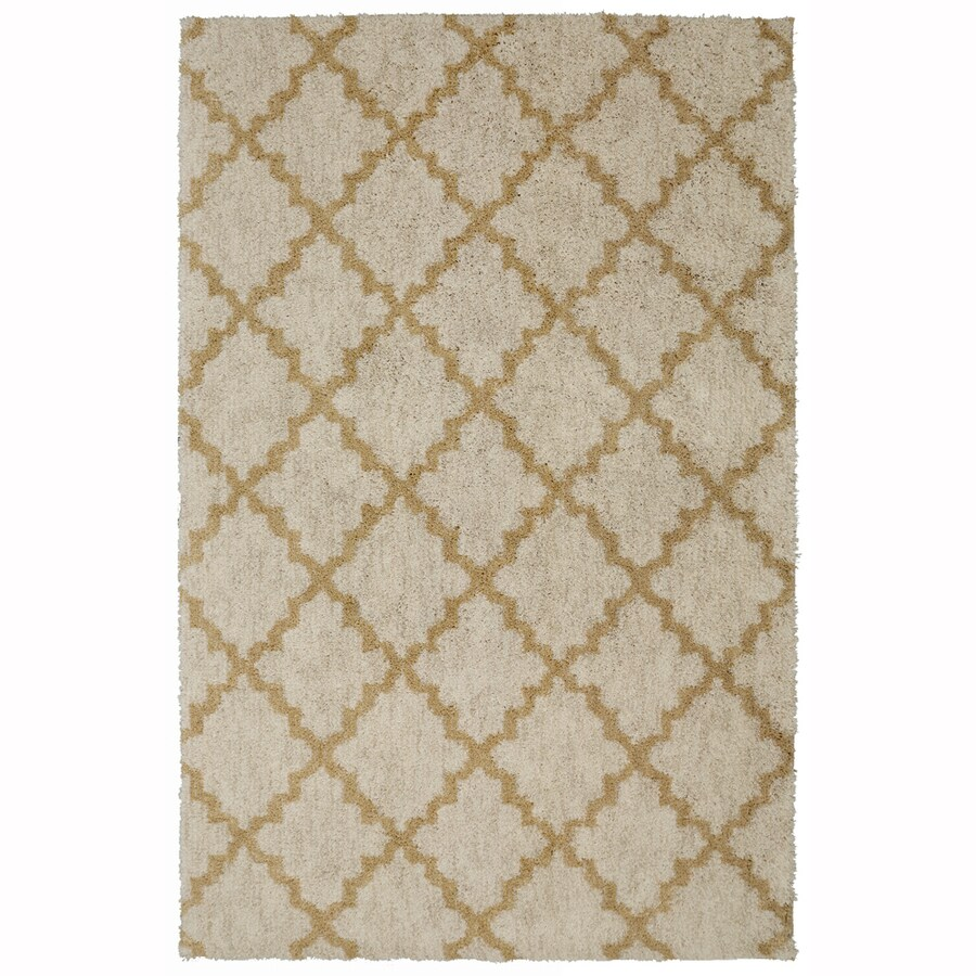 allen + roth Briarwick Tan Rectangular Indoor Woven Area Rug (Common: 8 x 10; Actual: 96-in W x 120-in L x 0.5-ft dia)