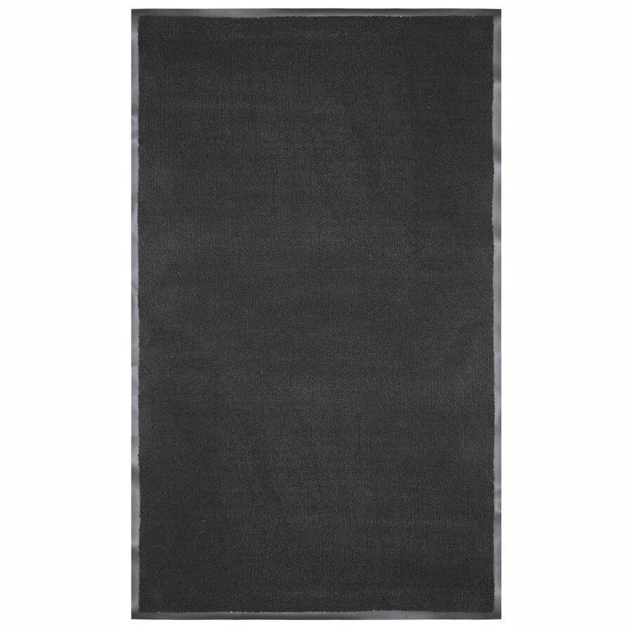 Mohawk Home Black Rectangular Door Mat (Common: 48-in x 72-in; Actual: 48-in x 72-in)