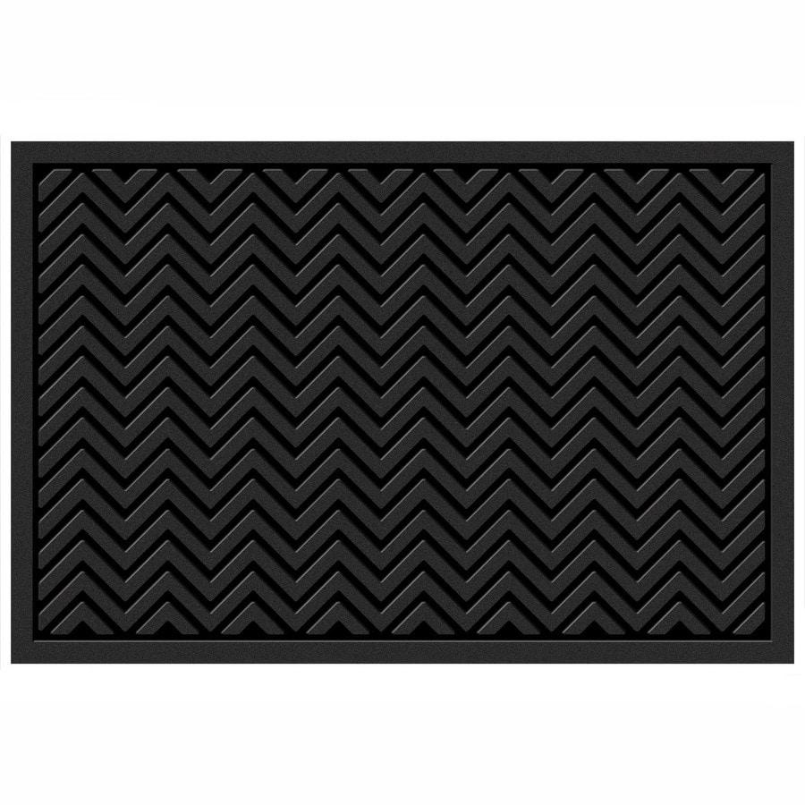 Mohawk Home Black Rectangular Door Mat (Common: 36-in x 60-in; Actual: 36-in x 60-in)