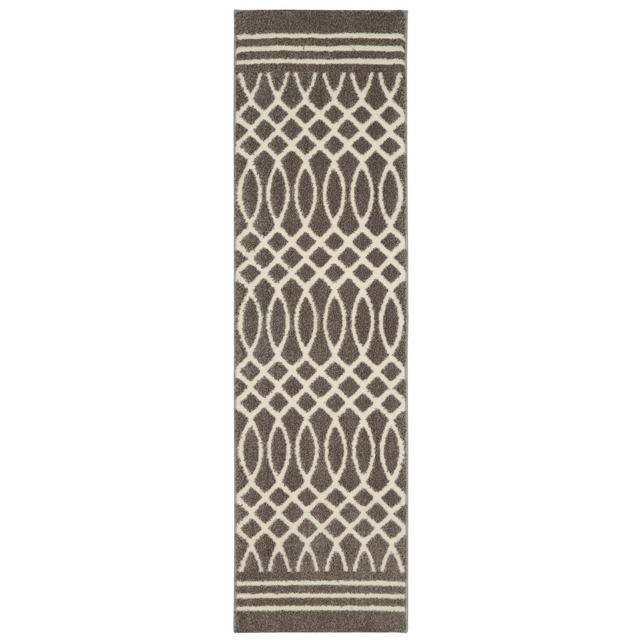 Mohawk Home Tiber Grey Rectangular Indoor Woven Area Rug (Common: 2 x 8; Actual: 25-in W x 94-in L x 0.5-ft dia)