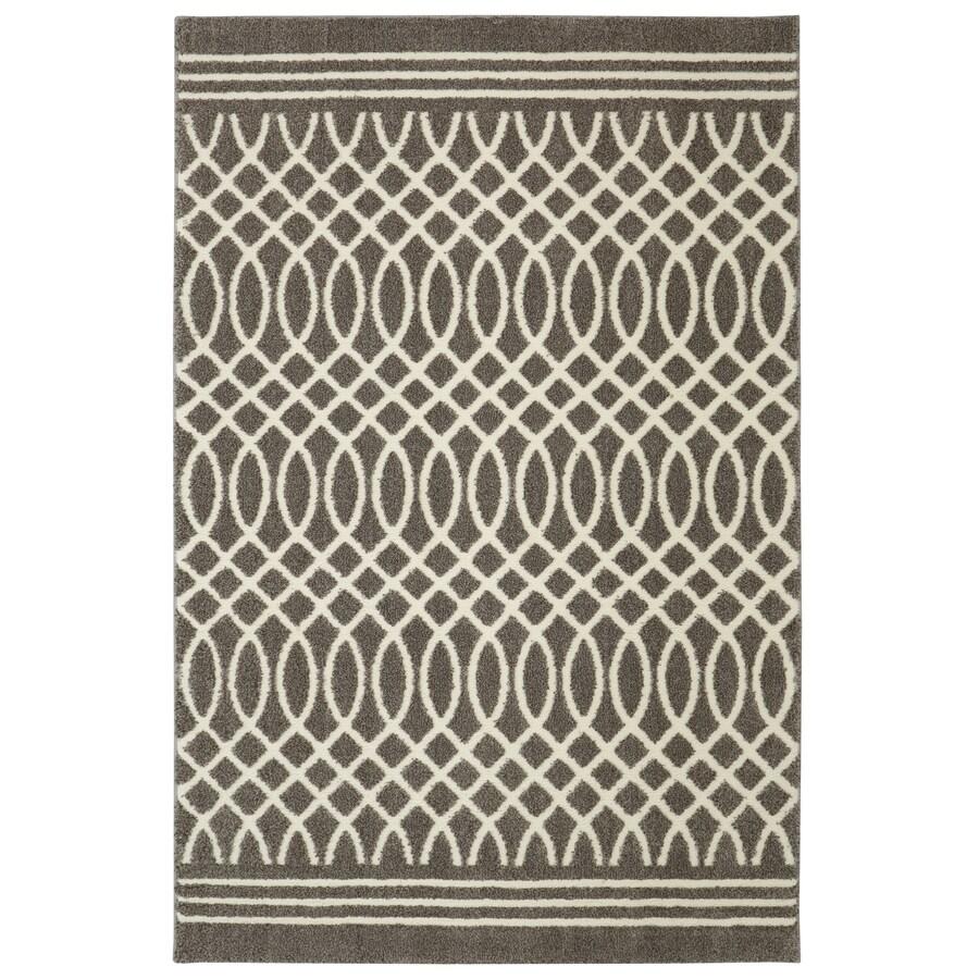 Mohawk Home Tiber Grey Rectangular Indoor Woven Runner (Common: 8 x 10; Actual: 96-in W x 120-in L x 0.5-ft dia)