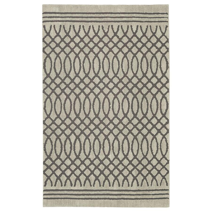 allen + roth Tiber Grey Rectangular Indoor Woven Area Rug (Common: 10 x 13; Actual: 120-in W x 155-in L x 0.5-ft dia)