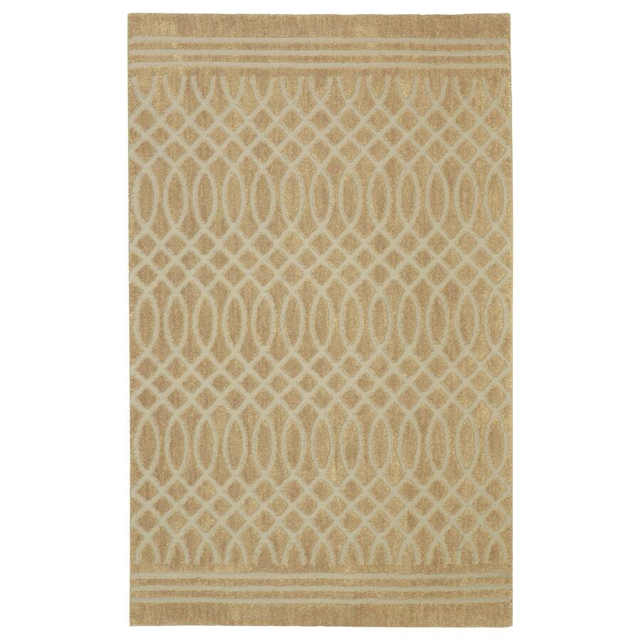 allen + roth Tiber Almond Buff Rectangular Indoor Woven Area Rug (Common: 5 x 8; Actual: 60-in W x 96-in L x 0.5-ft dia)