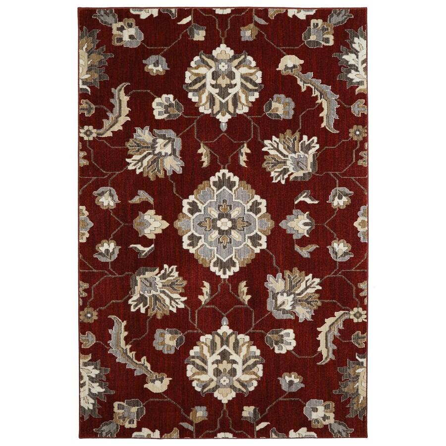 Mohawk Home Telgany Garnet Rectangular Indoor Woven Area Rug (Common: 5 x 8; Actual: 63-in W x 94-in L x 0.5-ft dia)