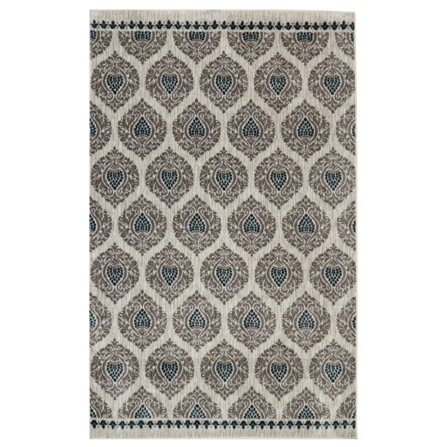 Mohawk Home Bethania Blue Rectangular Indoor Tufted Area Rug (Common: 8 x 10; Actual: 96-in W x 120-in L)