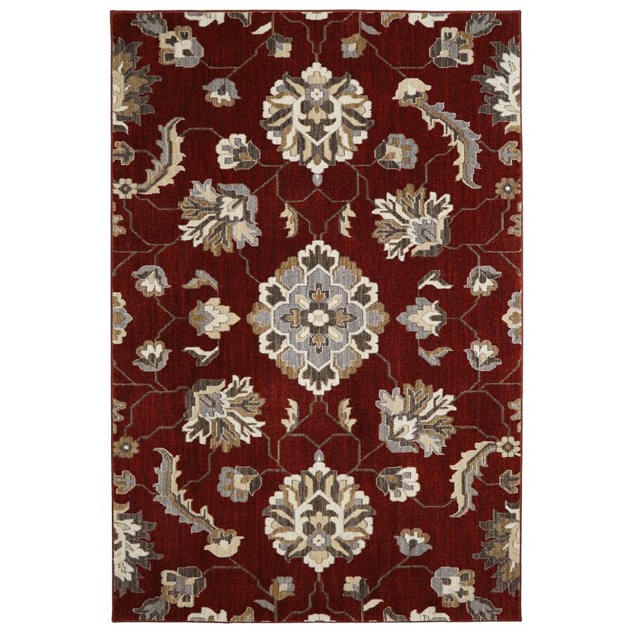 allen + roth Telgany Garnet Rectangular Indoor Woven Area Rug (Common: 10 x 13; Actual: 120-in W x 155-in L x 0-ft Dia)