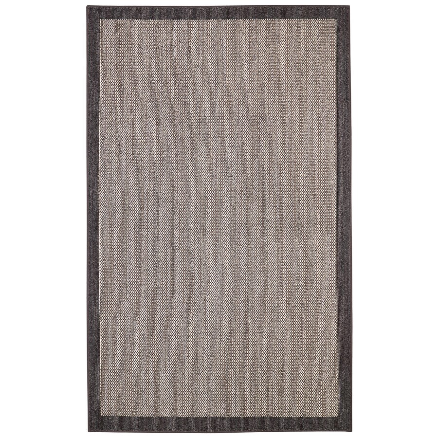 Mohawk Home Topaz Charcoal/Taupe Rectangular Indoor Tufted Area Rug (Common: 5 x 8; Actual: 60-in W x 96-in L)