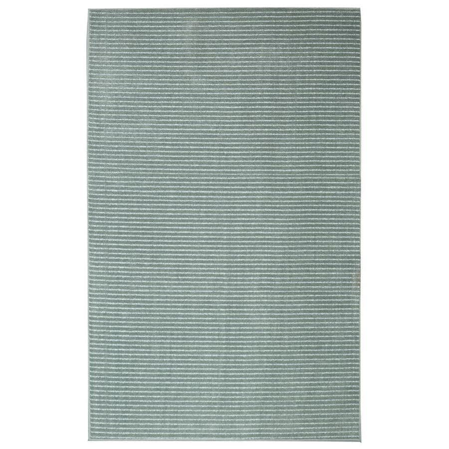 allen + roth Cattar Aqua Rectangular Indoor Tufted Area Rug (Common: 5 x 8; Actual: 60-in W x 96-in L x 0-ft Dia)