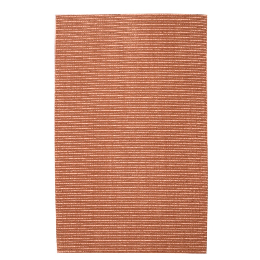 allen + roth Cattar Coral Rectangular Indoor Tufted Area Rug (Common: 8 x 10; Actual: 96-in W x 120-in L)