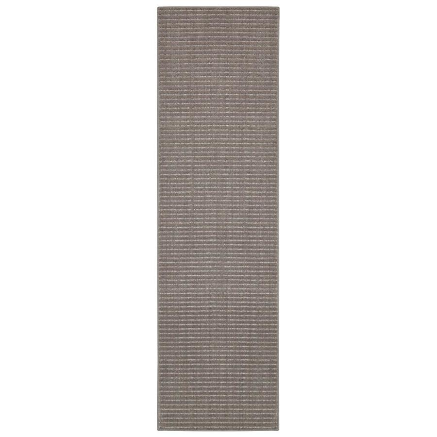 allen + roth Cattar Brindle/Gray Rectangular Indoor Tufted Runner (Common: 2 x 8; Actual: 24-in W x 96-in L)