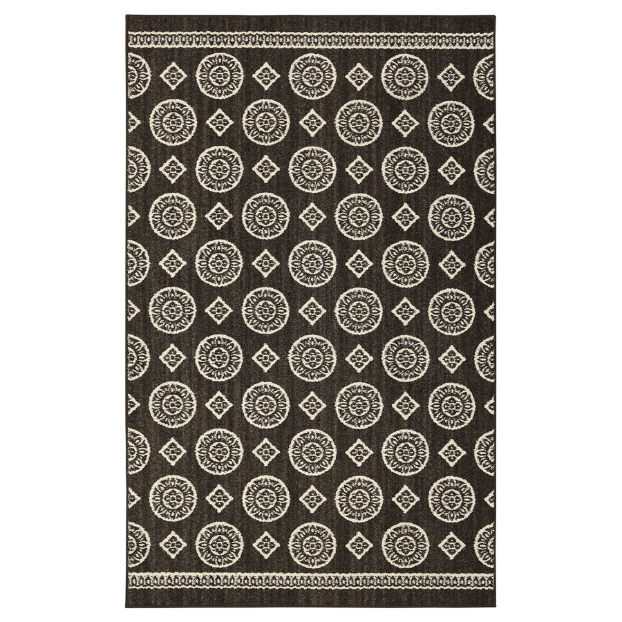 Mohawk Home Colorpoint Charcoal Rectangular Indoor Tufted Area Rug (Common: 5 x 7; Actual: 60-in W x 84-in L x 0.5-ft Dia)