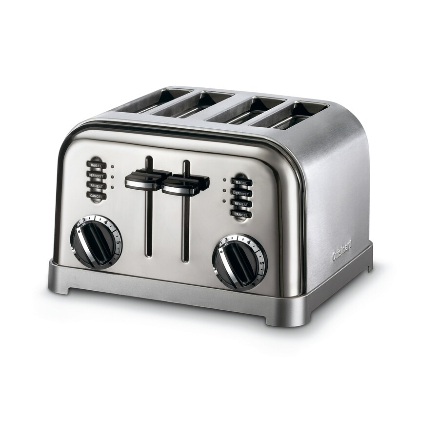 Cuisinart 4-Slice Black Chrome Metal Toaster