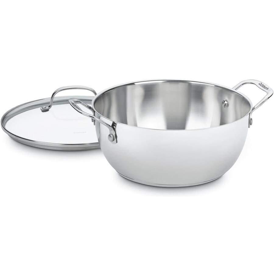 Cuisinart Classic 5.5-Quart Stainless Steel Soup Pot with Lid