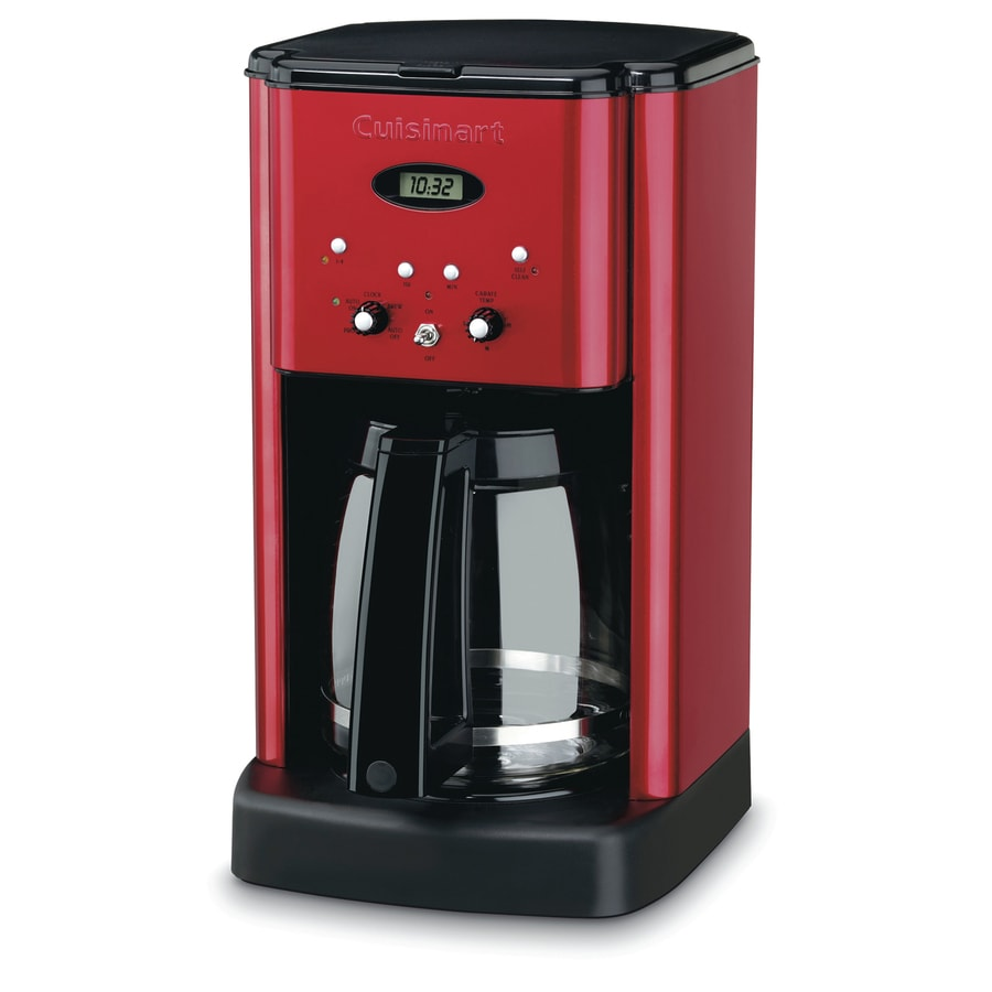 One Cup Coffee Maker Programmable : Shop Cuisinart 12-Cup Red Programmable Coffee Maker at Lowes.com