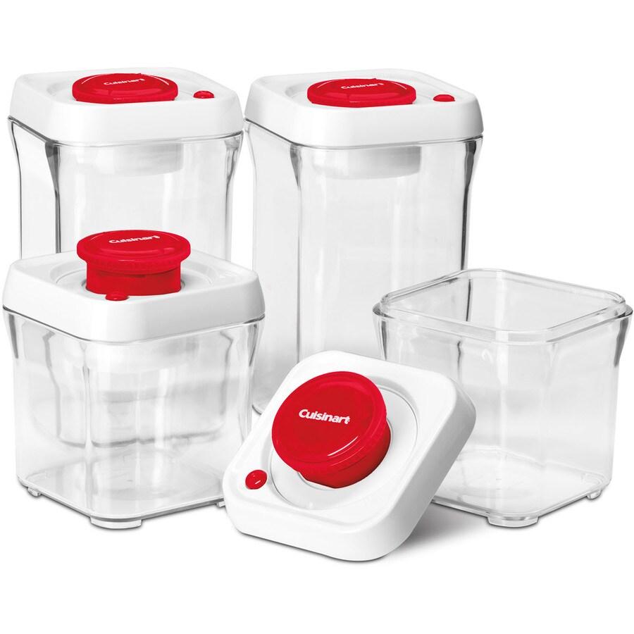 Cuisinart 4-Piece Plastic Food Storage Container